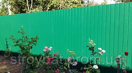 Забор из профнастила лето - осень 2016