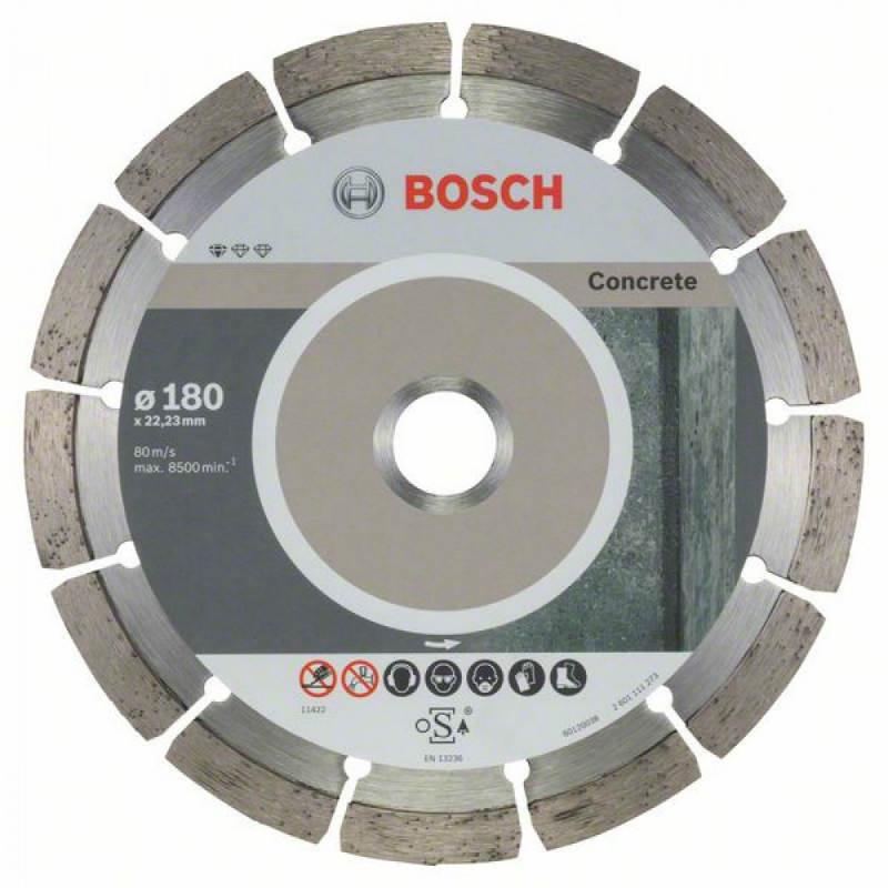 Алмазный отрезной круг Bosch Standard for Concrete180x22,23, 10 шт в уп.
