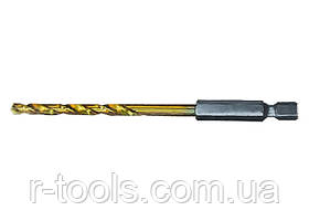 Сверло по металлу, 3 мм, HSS, нитридтитановое покрытие, 6-гранный хвостовик MATRIX 7173029
