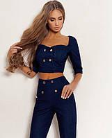 Красивый женский джинсовый костюм