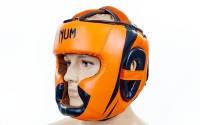 Шлем боксерский с полной защитой FLEX VENUM (р-р M-XL, оранжевый-черный)