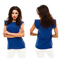 Блузка женская шифоновая с коротким рукавом