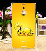Силиконовый чехол накладка для Nokia Lumia 1520 с рисунком Покемон