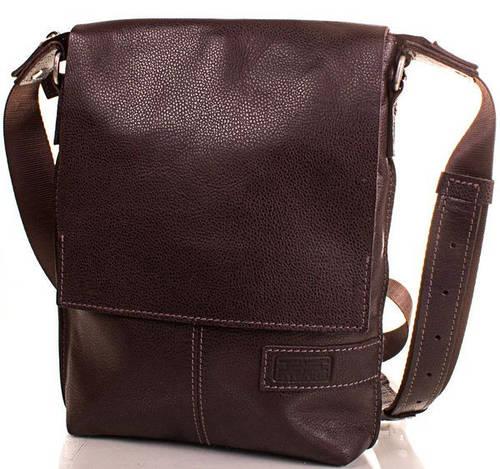Кожаная мужская износостойкая сумка ETERNO (ЭТЭРНО) ERM501BR Коричневая