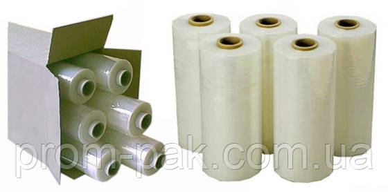 Стрейтч пленка для машинной упаковки 20 мкм 500 мм 17 кг