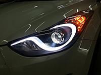 Hyundai Elantra MD передние фары тюнинг оптика