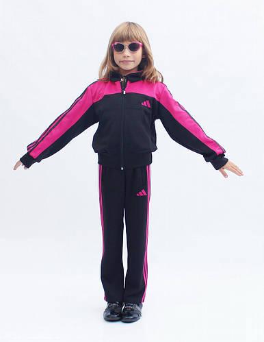 Спортивный костюм на заказ для детей с яркой вставкой и капюшоном