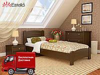 Кровать односпальная Венеция Люкс из натурального дерева