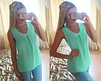 Блузка шифоновая без рукава