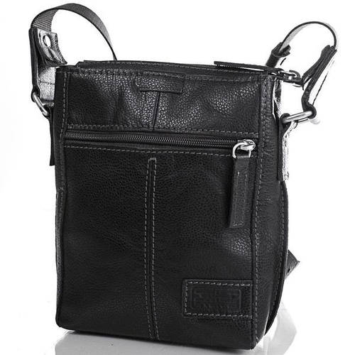 Кожаная мужская практичная сумка ETERNO (ЭТЭРНО) ERM502B Черная