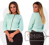 Женский пиджак на молнии больших размеров о-202324