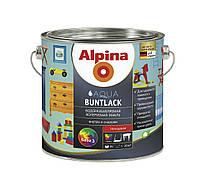 Эмаль акриловая ALPINA AQUA BUNTLACK универсальная, транспарентная (база В3), 2,35л,