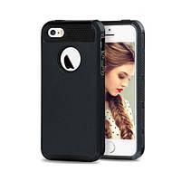 Чехол для iPhone 5/5S из прочного пластика и силикона - черный