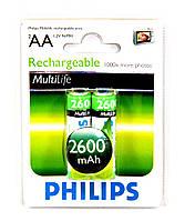Аккумулятор Philips MultiLife AA Ni-MH 2600 mAh