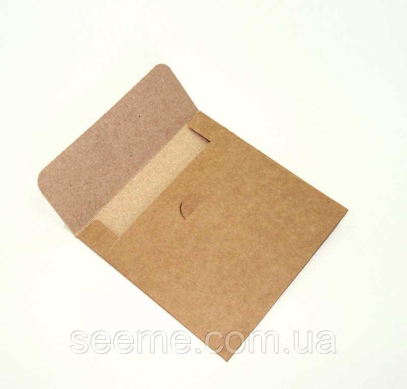 Конверт для дисков из крафт бумаги, 130х130 мм.