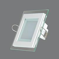 Светильник светодиодный квадратный 6W 4500К (100*100*30)