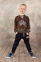 Брюки для мальчика джинсового типа, Модный Карапуз