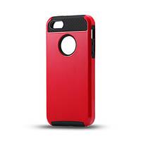 Чехол для iPhone 5/5S из прочного пластика и силикона - красно-черный