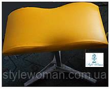 Тренога для педикюра из кожзама подставка желтая