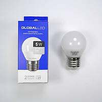 Лампа светодиодная шар 5Вт 220В Е27 Global (гарантия два года)
