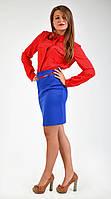 Рубашка с длинным рукавом красного цвета