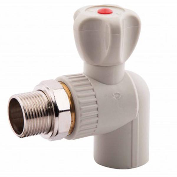Кран радиаторный угловой - 25x1/2 Alfa Plast