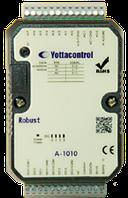 Модуль A-1010, 8AI(0-10V), 2AO(0-10V), 4DO(n-p-n), Modbus RTU / ASCII: RS-485