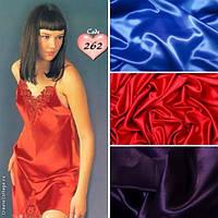 Шикарные ночные сорочки атлас+ кружево, только оптом. В упаковке 6 штук: разные цвета и размеры.