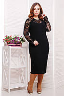 Платье элегантное Элина р. 54 черный