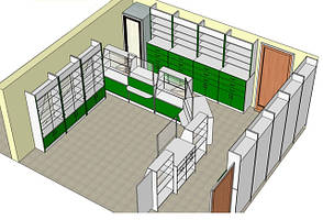 Создание мебели для аптек