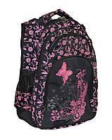 Рюкзак школьный подростковый для девочки с цветочным узором