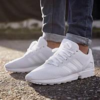 Женские оригинальные кроссовки Adidas White ZX Flux АТ-260