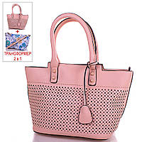 Женская оригинальная сумка-трансформер из кожезаменителя GUSSACI (ГУССАЧИ) TUGUS14G060-5-13  (бежевый)