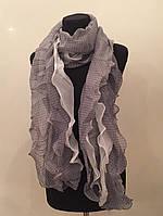 Легкий шифоновый шарф в мелкий горошек