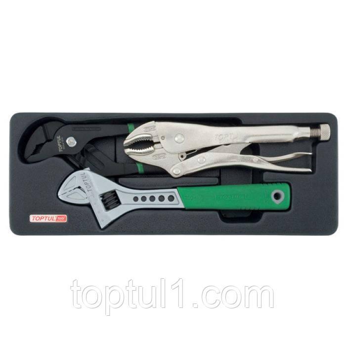 Набор инструмента комбинированный TOPTUL GBAT0301 (в ложементе)