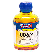 U06/Y Чернила (Краска) Yellow (Желтый) Водорастворимые (Водные) 200г универсальные