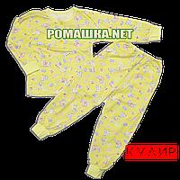 Детская пижама  тонкая р. 104-110 ткань КУЛИР 100% тонкий хлопок ТМ Авекс 3185 Желтый 110