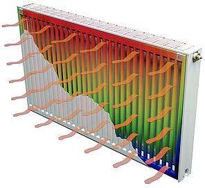 Радиатор стальной тип 22 ISI 500 х 500   965 Вт. (боковое подключение, Турция), фото 2