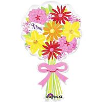Фольгированный шар в виде букета цветов для мамы