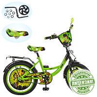 """Велосипед дитячий 20"""" BN 0042 чорно-зелений"""