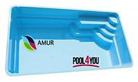 Бассейн из стекловолокна POOL4YOU Amur 6 (стоимость чаши указана для базовой комплектации бассейна)