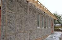 Утепление наружного фасада целлюлозным утеплителем Юнизол