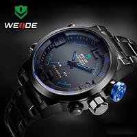 Часы мужские WEIDE Sport Watch (LED) Black/Blue