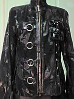 Куртка из натуральной кожи с лазерным покрытием длина 60см 46р-48р ОГ-96 ОБ-100