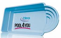 Чаша для бассейна из стекловолокна 6,30x3,20 x1,55 м POOL4YOU Hera 10