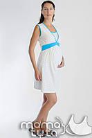 Ночная сорочка для беременных и кормящих мам Сердечки