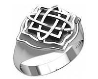 Кольцо-Оберег серебро Звезда Лады Богородицы 30315