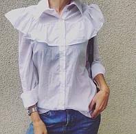 Женственная блуза с рюшем
