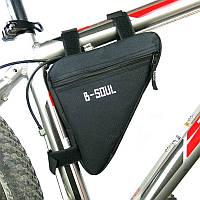 Сумка треугольная на раму велосипеда, Черный, фото 1