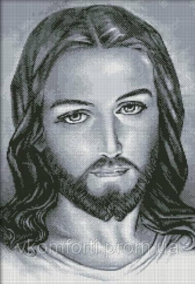 """""""Иисус"""" Dream Art Набор для рисования камнями(квадратные, полная) 43х62см"""